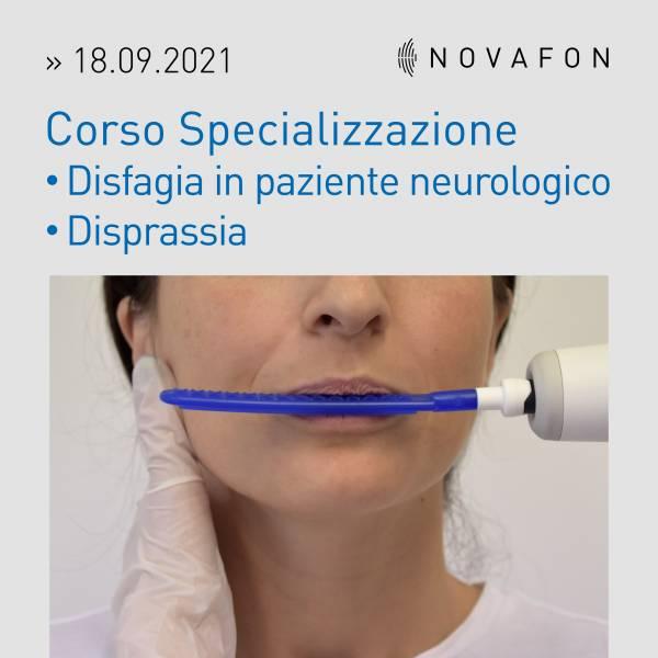 Corso Specializzazione Disfagia in paziente neurologico e Disprassia orale 18.09.2021