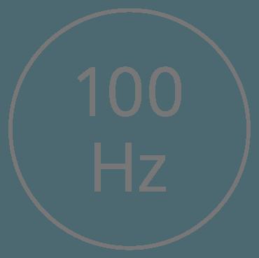 Frequenza 1 — 100 oscillazioni al secondo (Hertz)