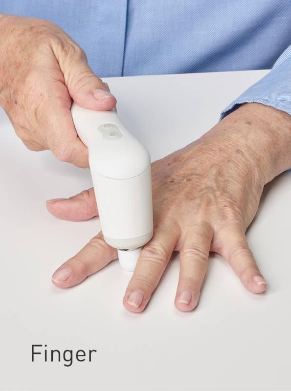 zur Anwendung an den Fingern